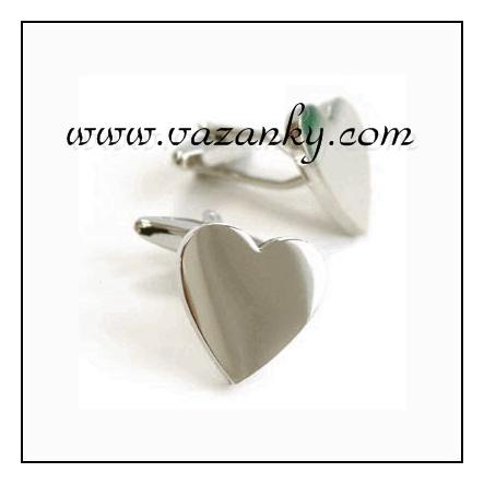 Kravata - vázanka Stříbrné srdce